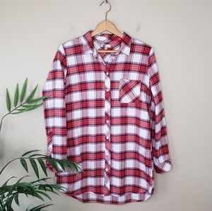 Kut from the Kloth   Red Plaid Button Front Shirt
